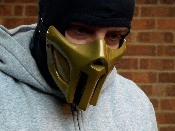 Mortal Kombat Scorpion v2. Gold Cosplay mask  by HiddenAssassins, £45.99