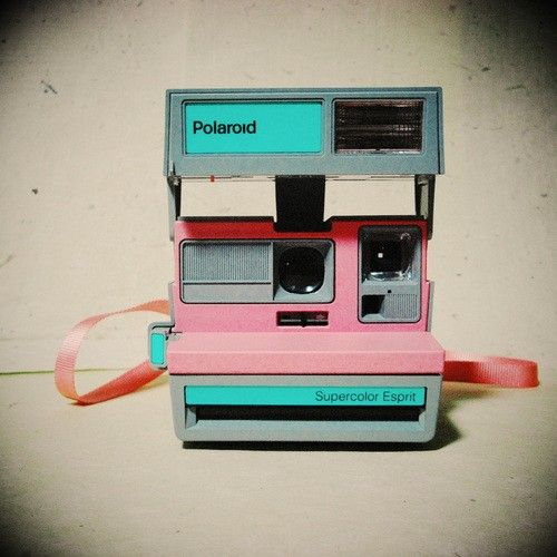 Pastel Polaroid fabulousness.  It really doesn't get much cooler than this