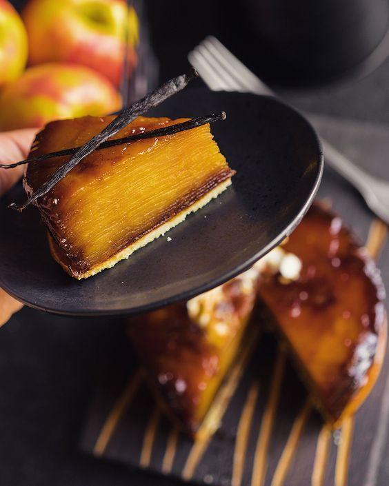 Классический яблочный тарт татен из Франции