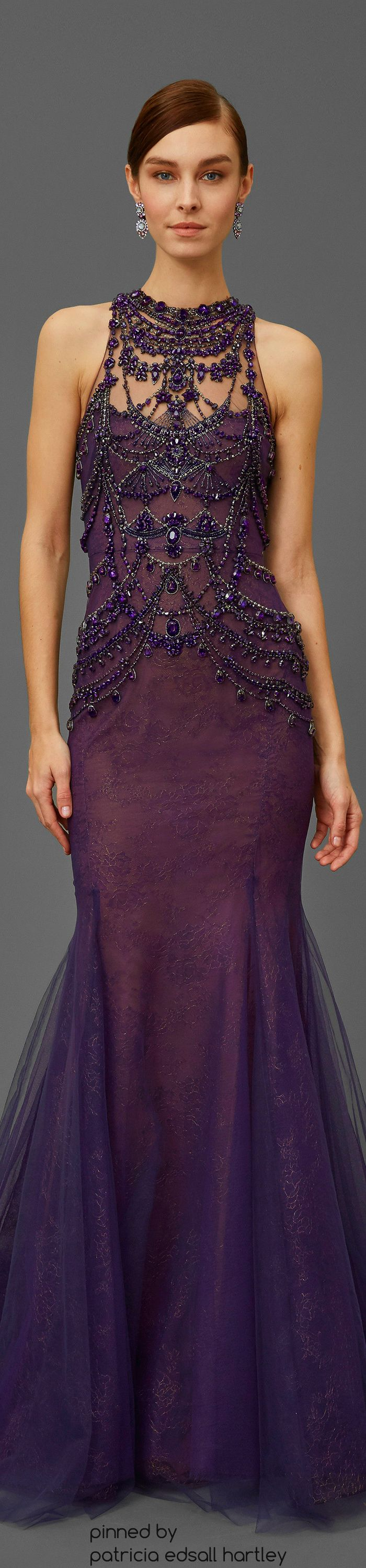 Marchesa Pre-Fall 2016 women fashion outfit clothing style apparel @roressclothes closet ideas