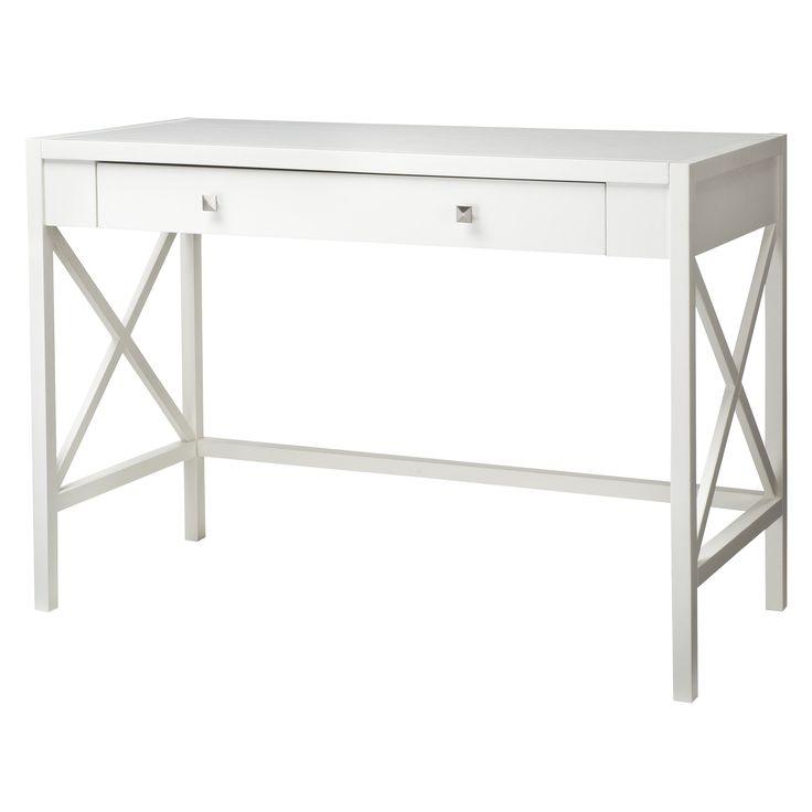Hamilton x slat office desk white finish target