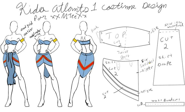 Kida costume final patern layout by Venray on deviantART