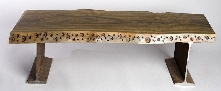 banco de madera reciclada muebles living madera reciclada banquete