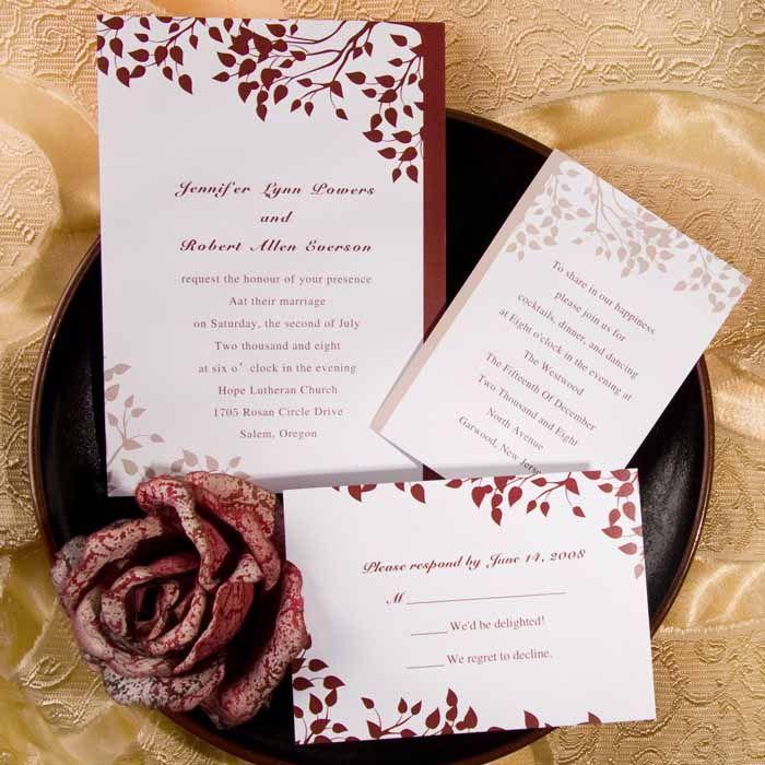 147 best Fall Wedding Invitations images on Pinterest