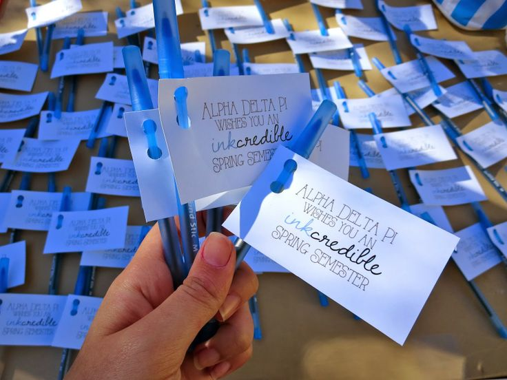 Cute idea for campus PR, scholarship goodies, and more!