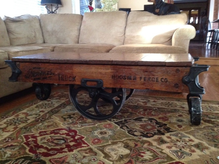 Railroad Cart Coffee Table. Coffee Table.....Love Love Love This!