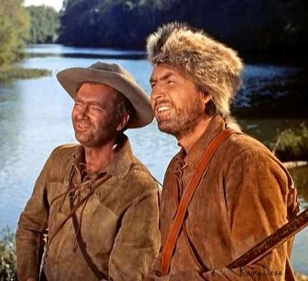 Buddy Ebsen, Fess Parker in Davey Crocket!