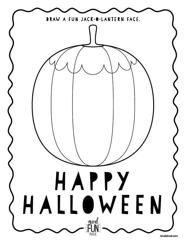 Halloween Themed Free Printable Coloring Page via ...