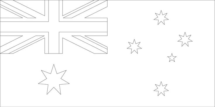 australia flag coloring pages Flag coloring pages, Flag