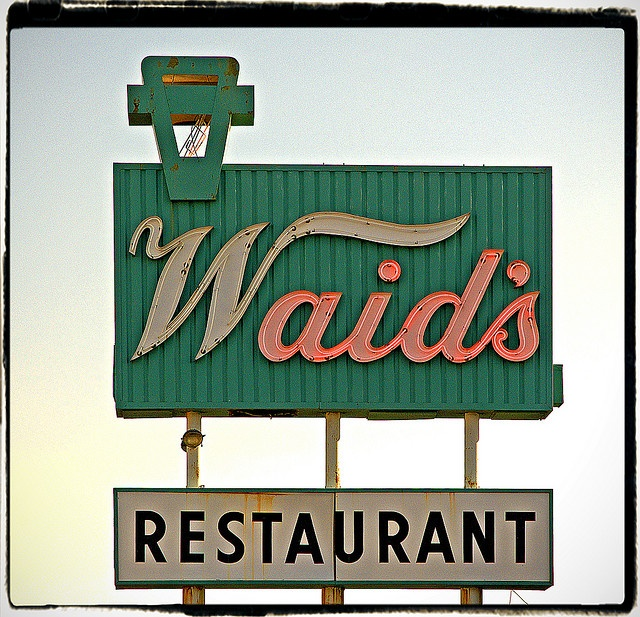 Waid's Restaurant on 50 Highway at Lee's Summit, Missouri with my Grandma Mills