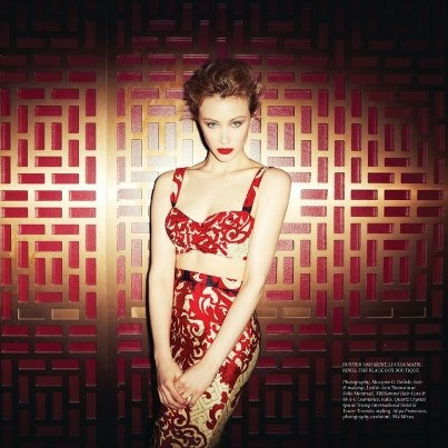 Sarah Gadon in Lucian Matis for Real Style Network