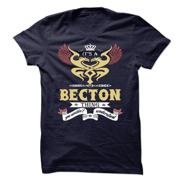 (Tshirt Order) Its a Becton Thing You Wouldnt Understand sweatshirt t shirt hoodie Discount Best Hoodies, Tee Shirts
