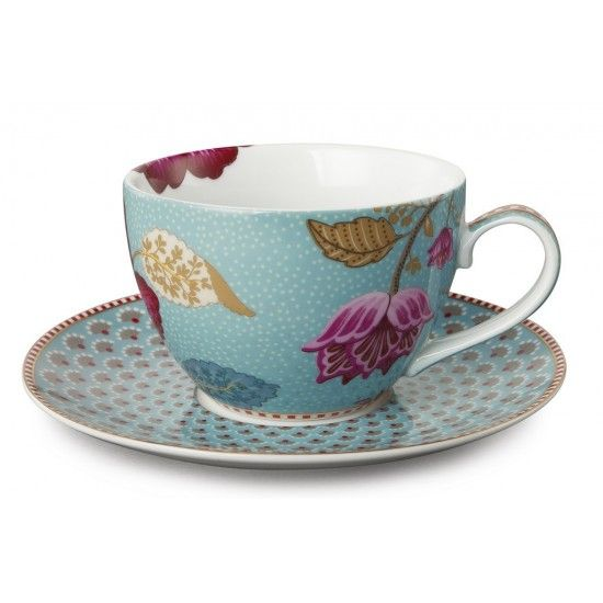 Superbe tasse à thé à l'esprit floral signée PIP Studio. Cette tasse à thé ou à cappuccino fait partie de la très jolie collection FANTASY de PIP STUDIO.