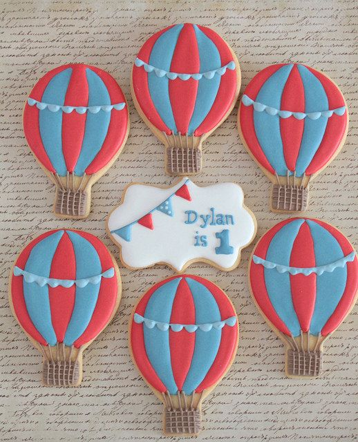 Hot air balloon cookies by Miss Biscuit