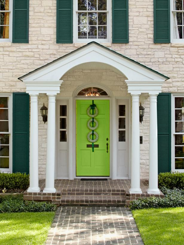 Paint the Front Door  in 1 Can of Paint, 50 New DIY Projects  from HGTV