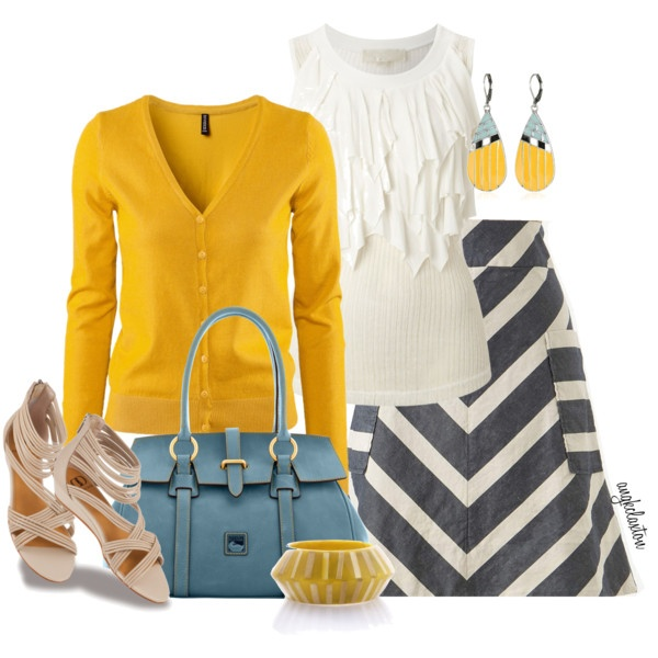 Cute!Colors Combos, Fashion Style, Schools, Closets, Colors Sweaters, Modest Fashion, Outfit, Chevron Skirts, Clothing Open