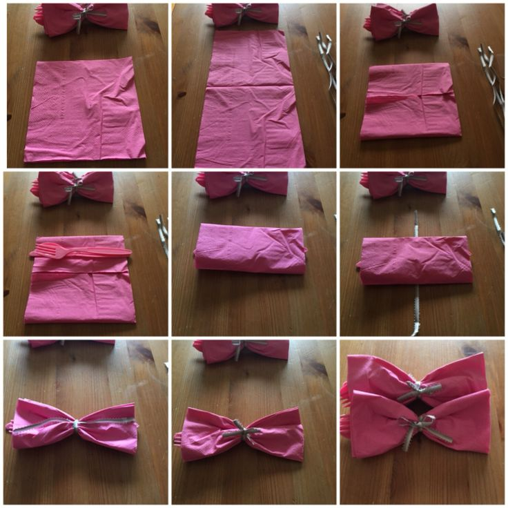 25 best ideas about bow tie napkins on bow