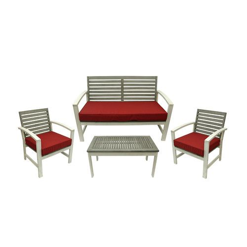 Eta Low Profile 5 Piece Seating Group with Cushion. Outdoor Furniture Set Furniture SetsWood ...