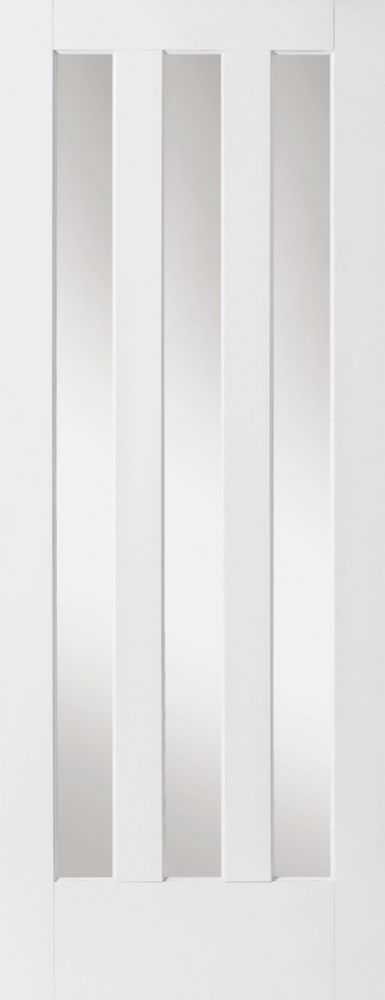 The Aston Clear Glazed door is a primed alternative to the popular Aston white oak door range A contemporary design which offers a clear glazing area