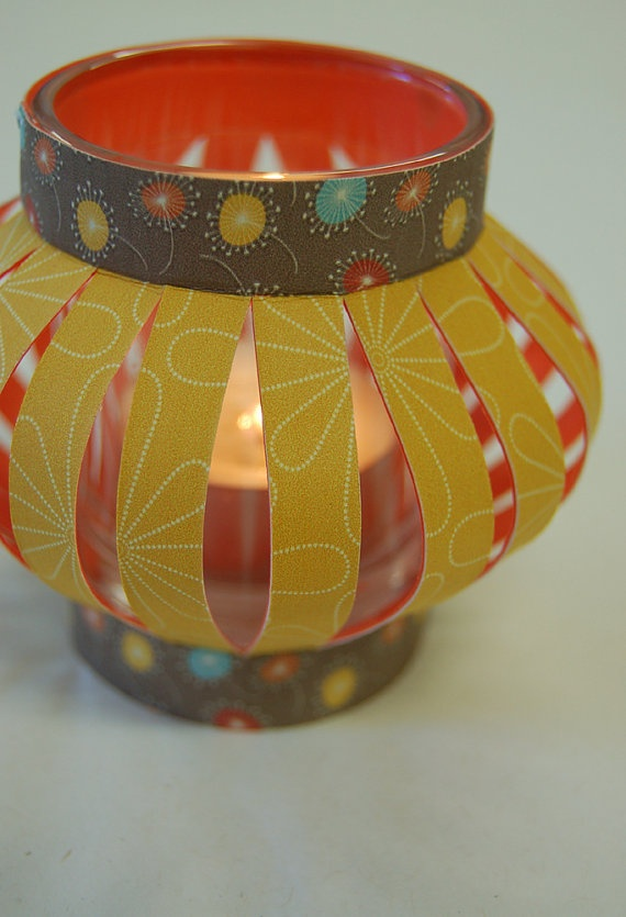 Paper Lantern - how adorable, and what a great way to use up scrap paper and washi tape.: