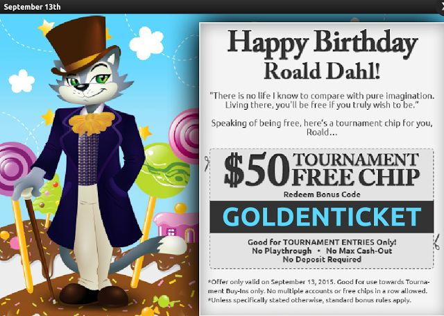 $50 Free Tournament Chip | Cool Cat Casino | September 13th only