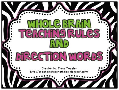 Whole Brain Teaching Rules Signs- Free!