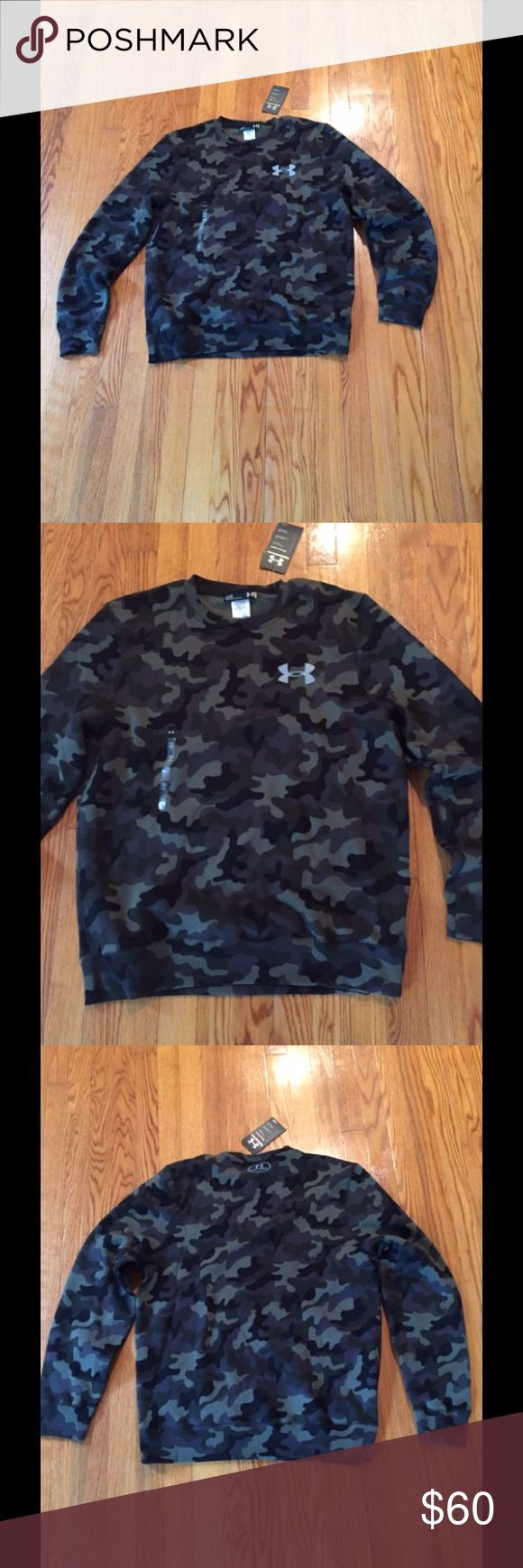 New Under Armour Camouflage Sweatshirt New Under Armour Camouflage Sweatshirt. Size: Large (men).   Estimate size for women would be 2xl. Under Armour Sweaters
