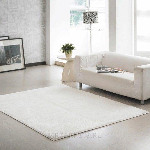 Белый ковер с длинным ворсом Touch