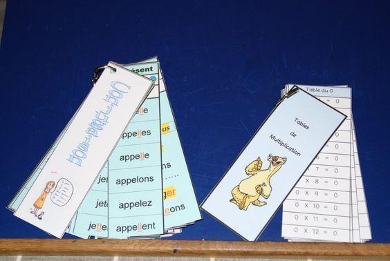 Support de mémorisation (calcul et conjugaison)