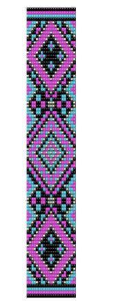 Vibrant Native American Inspired Loom Bracelet par dvorakdesigns