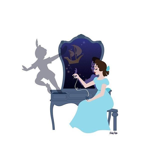 Newest vanity warm up illustration: Wendy :) #peterpan #wendy