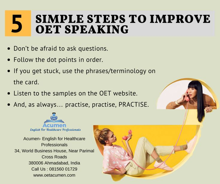 5 Simple Steps to Improve #OET #Speaking  #Enroll today at our #Baroda and #Ahmedabad Branch Help Line No. 081560 01729