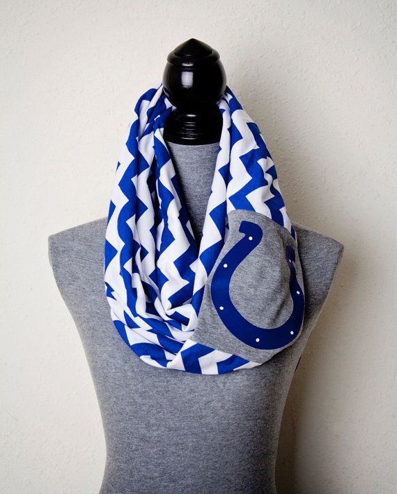 Back in Stock!!!  Blue Chevron Colts Scarf