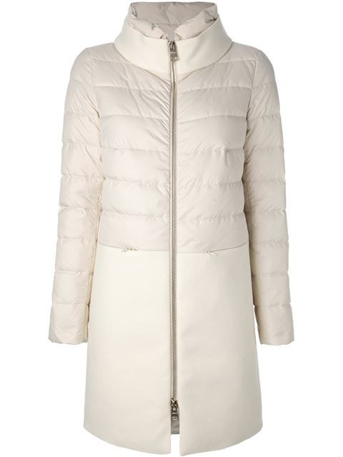 Купить Herno пальто на молнии в Papini Farfetch предлагает товар из лучших независимых бутиков со всего мира.
