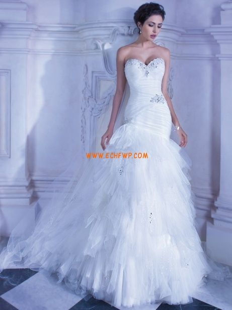Trumpet/Mermaid Chic & Modern Sleeveless Wedding Dresses 2013