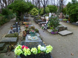 Grave of Rin Tin Tin in the center foreground!  http://www.coolstuffinparis.com/cemetery-des-chiens-pet-cemetery-paris.phpPets Cemetery, Rin Tins, Cemetery Art, Cemetery Remembrance, Famous Dead, Center Foreground, Mourning Traditional, Tins Tins