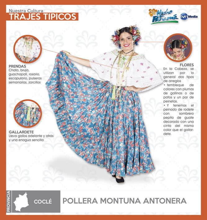 Pollera Montuna Antonera
