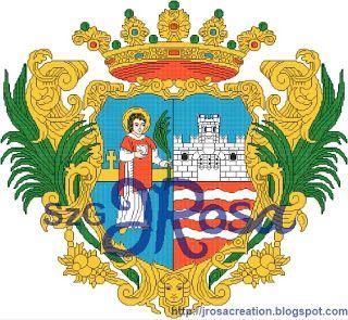 Győr város címere - keresztszemes minta FREEBIE