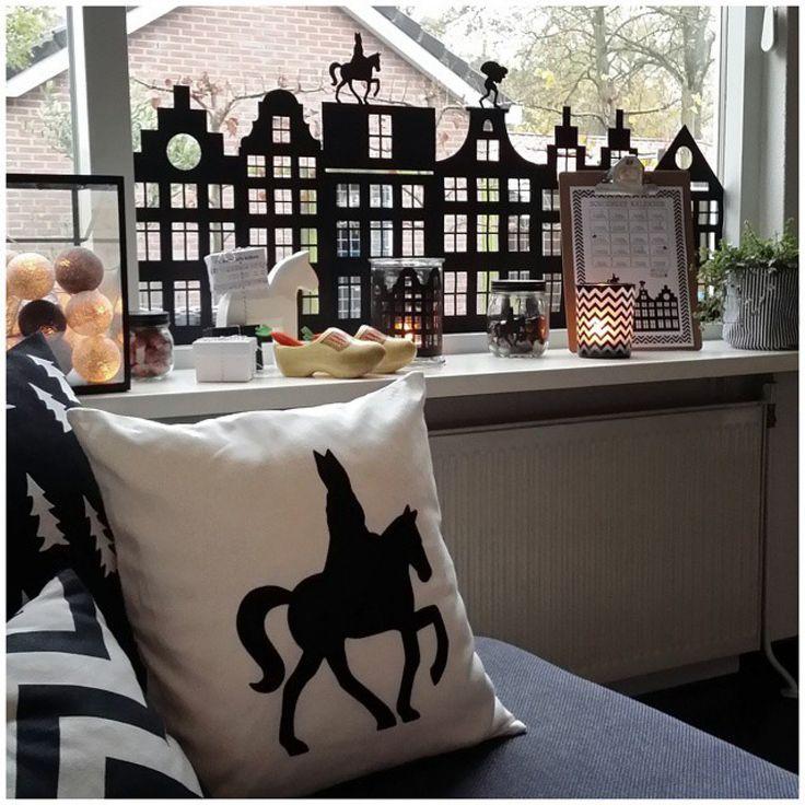 Mooie raamversiering voor Sinterklaas
