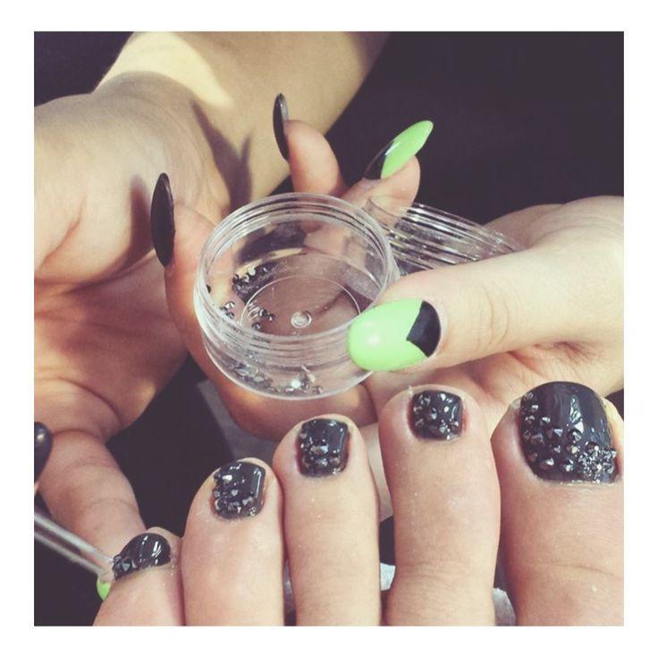#toe #bling because why not?   #nailedit #nailart #nails
