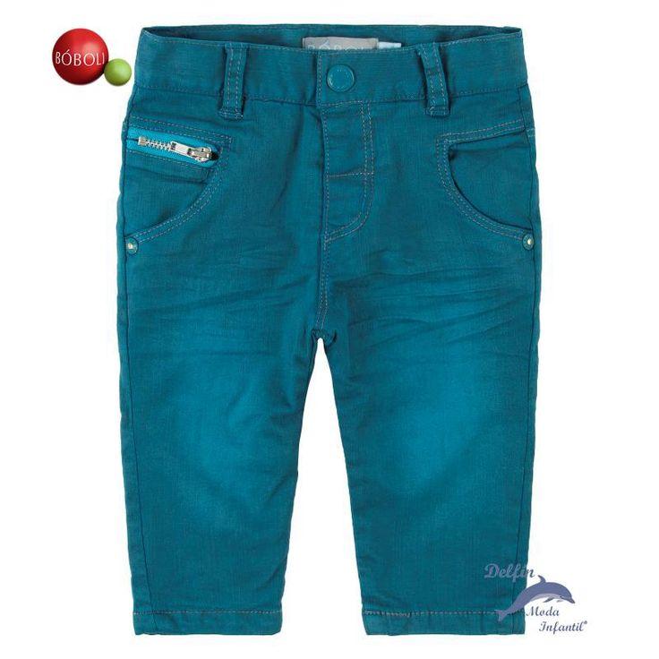 Pantalón tejano niño BOBOLI color cobalto lavado