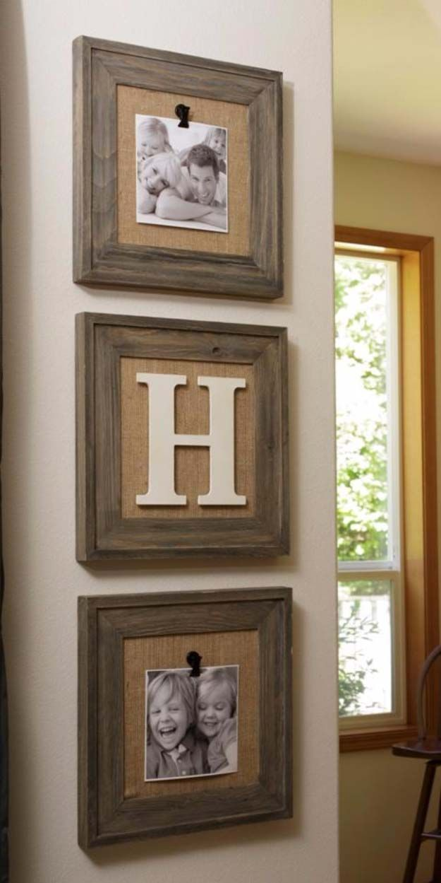 DIY Projects with Burlap and Creative Burlap Crafts for Home Decor, Gifts and More | Barnyard Trio Frame Home Decor | diyjoy.com/...