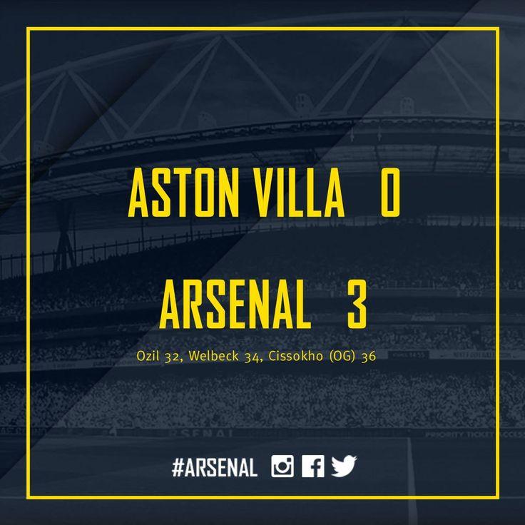Aston Villa 0 / Arsenal 3
