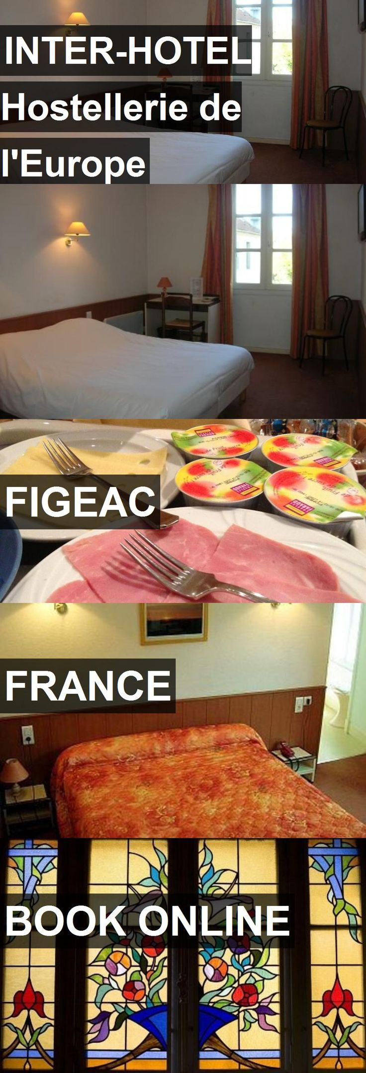 INTER-HOTEL Hostellerie de l'Europe in Figeac, France. For more information, photos, reviews and best prices please follow the link. #France #Figeac #travel #vacation #hotel #hostel