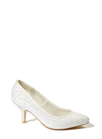 Ivory Wedding Collection Lace Point Court Shoes