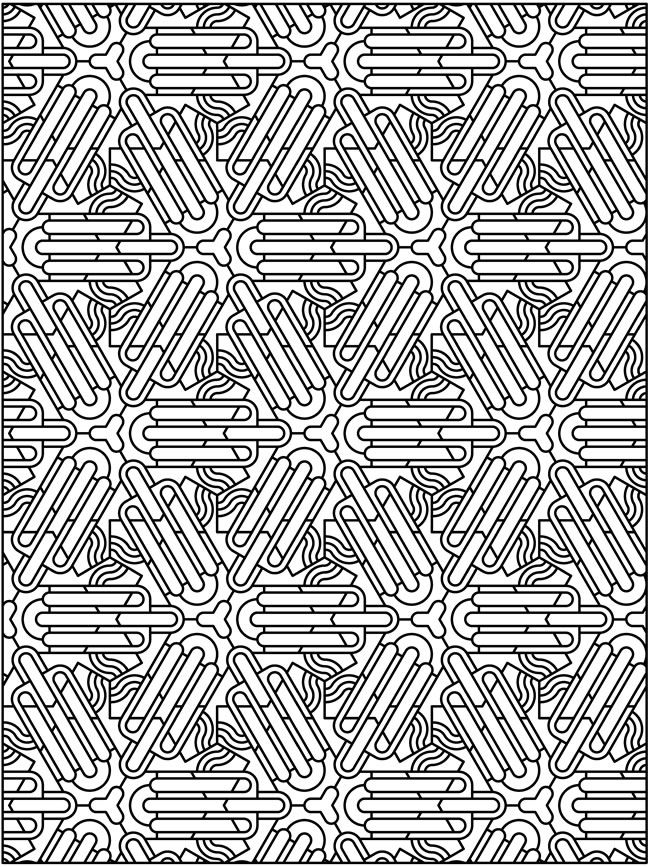 Creative Colouring Patterns : Tessellation patterns coloring pages dover