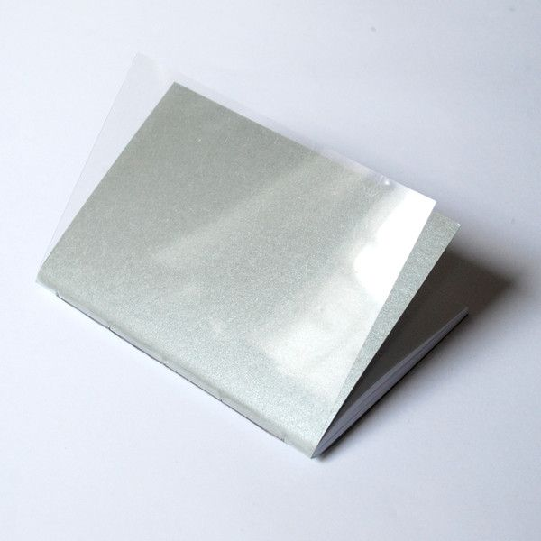 A6 – silver notebook A6(10x14,5) with plexiglass covers – a unique product by Kajet on DaWanda