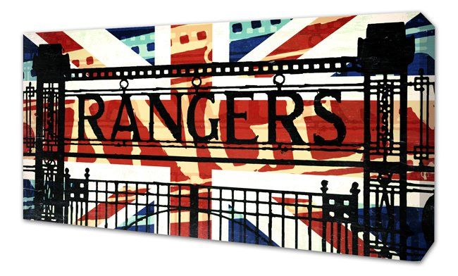 """New for 2017! The Blue Gates of Ibrox Stadium - Abstract Union Flag design on canvas.Canvas Sizes available:24"""" x 12""""• Next working day dispatch. • Quality canvas print • Su..."""