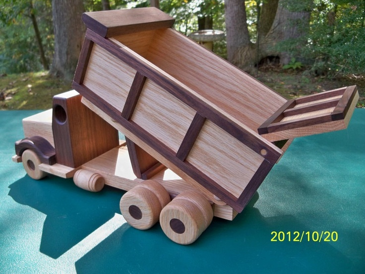 Large Wooden Dump Truck 15 in long Handmade toys Oak by mikebtoys, $74.95