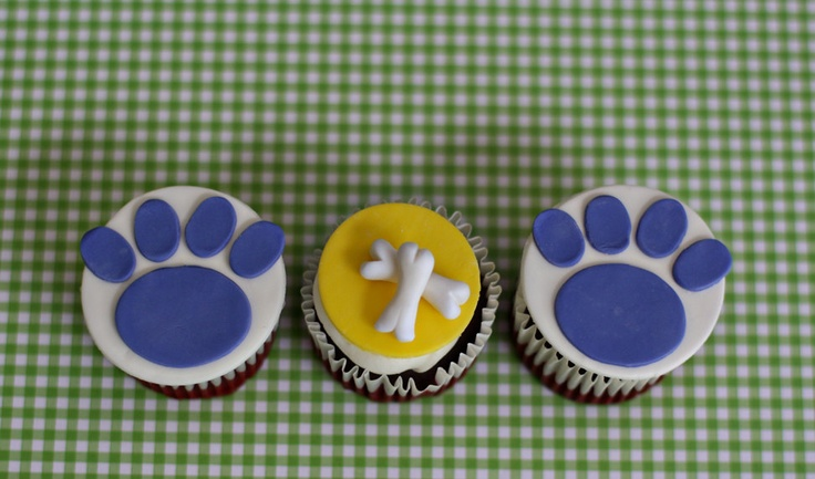 Fondant Dog Bone and Paw Print Toppers